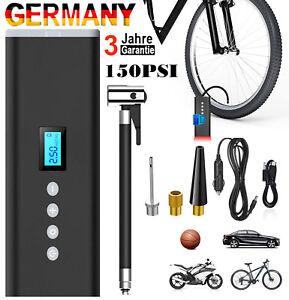 LCD Akku Elektrische Luftpumpe Auto Reifen Druckluft Fahrrad Kompressor - 150PSI