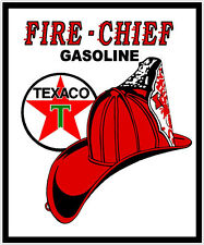 TEXACO FIRE CHIEF GASOLINE VINYL DECAL STICKER (A1311) 4 INCH