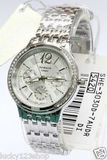 SHE-3030D-7A Mineral Glass Stainless Casio Sheen Watch Multiple hand Analog