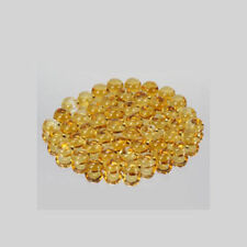3mm 50pc Round CABOCHON Cut Natural Yellow Citrine