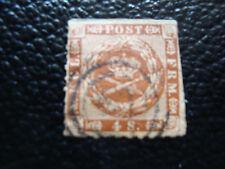 DANEMARK - timbre yvert et tellier n° 10 obl (A9) denmark