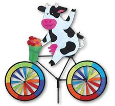 Cow on a Bicycle Staked Wind Spinnerwith Pole & Ground Mount Pr 26717
