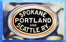 SPOKANE, PORTLAND & SEATTLE RAILWAY Emblem 0.76 oz .925 Silver Bar + Paper