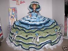 Handmade Crochet Bed Pillow Style Reproduction Midge Doll, Ooak