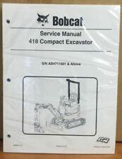 Bobcat 418 Compact Excavator Service Manual Shop Repair Book Part # 6986853