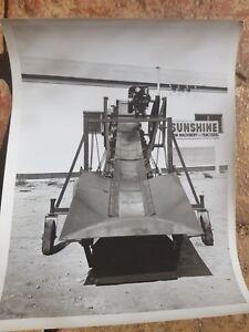 VINTAGE FARM MACHINERY  PHOTOGRAPH  SUNSHINE TRACTORS