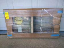 """NEW: Pella Almond (or tan) Color Vinyl Semi-SLIDER Home WINDOW  (53"""" W x 27"""" H)"""