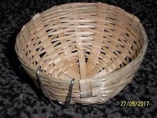 10 x WICKER NEST PANS FOR CANARIES , FINCHES ,BRITISH   cage & aviary birds