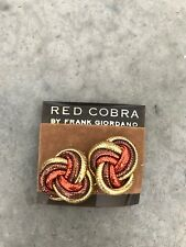 Bronze Clip On Earrings 1980s Vintage Retro Frank Giordano Woven Metallic