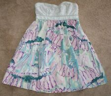 Kimchi Blue Strapless Watercolor Dress Womens Size 6