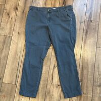 J.CREW Women's Sunwashed Slim Chino Pants Cropped SIZE 10 Gray Style F3176