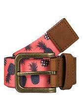 Roxy Cintura da donna. NUOVO JEANS Spot tessitura fibbia in metallo cinturino ANANAS 7s/231/nkn6
