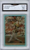 GMA 10 Gem Mint BARRY BONDS 1986 Sportflics Rookie Update ROOKIE CARD PIRATES !