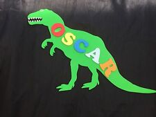 Personalised Wooden Name Plate Children Door or Wall Sign T-Rex