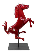 Murano Glass Ferrari Horse Sculpture by Oscar Zanetti
