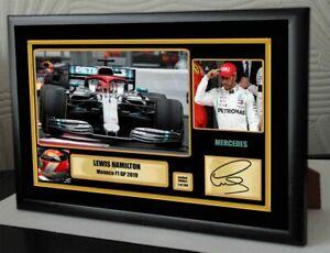 "Lewis Hamilton Tribute to NIKI F1 Monaco 2019 Framed Canvas  Signed ""Great Gift"