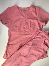 Greys Anatomy Scrubs by Barco set w top and bottom size XS pink nursing uniform
