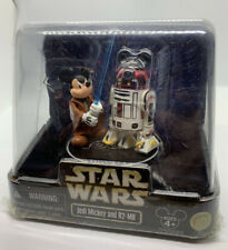 Disney Parks STAR WARS JEDI MICKEY and R2-MK figures NEW IN SEALED PACKAGE RARE