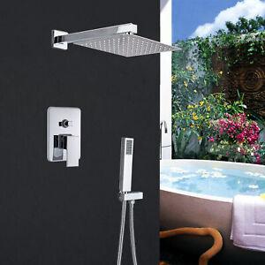 Set doccia da incasso completo con 12'' soffione a pioggia doccino miscelatore
