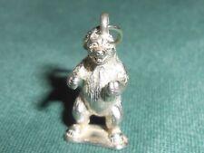 Vintage Sterling Silver Standing Bear Mammal Animal Wildlife Charm - Pendant