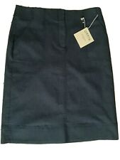 ORVIS Midnight Blue Wash Cotton Poly Denim Skirt Size 12 NEW WITH TAGS