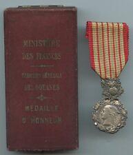 MEDAILLE D'HONNEUR DES DOUANES + ECRIN (ARGENT)