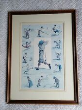 Rare Golfing Incidents By A.B Frost Professionally Framed Golf Print