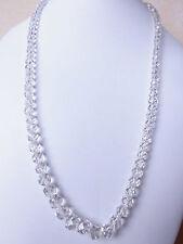 """Edelsteinkette fac.Bergkristall Collier Halskette 5-9mm Perlen 63cm """"True Gems"""""""