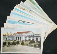 15 Vintage Washington D.C. Postcards, Unused from 1900s-1950's Time Period