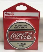 Coca Cola Set of 2 Cup Holder Car Coaster Please Pay When Served Coke New SS05