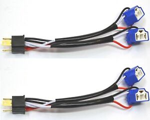 Splitter Wire Ceramic A 9003 HB2 H4 Two Harness Head Light Socket Plug Dual Beam