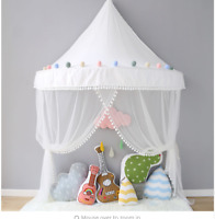 Kids Children Game Playhouse Indoor Foldable Play Tent Netting Net Teepee