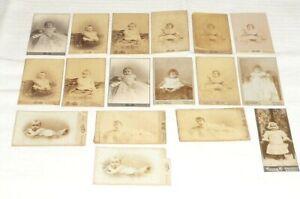 Alte Kinder Baby Fotos Bilder Großherzog Luxemburg Pappfotos CDV Kabinettfotos