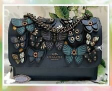 NWT COACH KLARE BUTTERFLY Applique' Crossbody Bag In MIDNIGHT MULTI-Col Leather