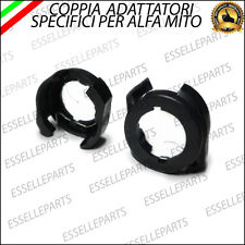 2 x ADATTATORI PORTA LAMPADE KIT LED H7 PER ALFA ROMEO MITO