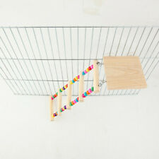 Colorful Parrot Bird Perch Stand Playing Toy Gym Wooden Ladder Cage Climbing