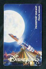 1996 Euro Disney Disneyland Paris Child Ticket Space Mountain Passport Card