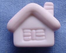 15mm Pink House Buttons (x 2 buttons)