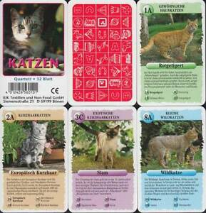 "KiK Textilien Spielkarten ""Katzen"" 2003 (S, Quartett-Nr. 560101) Z 0-"