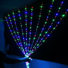 Xmas Christmas Waterfall Curtain Lights 3*3M 320LED Icicle String Light colorful