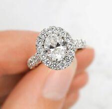 1.22ct G/VS1 Gorgeous Oval diamond halo Engagemet Ring in 14k LQQK! NEW!