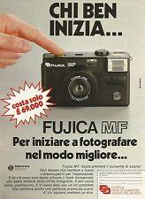 W5536 Macchina fotografica FUJICA - Pubblicità 1984 - Advertising