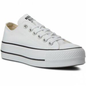 Scarpe da ginnastica platform bianchi Chuck Taylor All Star per ...
