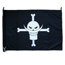 Anime One Piece Whitebeard Pirates Edward Newgate Pirate Flag Banner Cosplay
