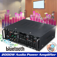 110V 2000W bluetooth Amplifier Audio Home Stereo Bass AMP 2Ch FM Radio SD USB US