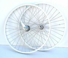 "Beach Cruiser bike 26""x 25mm Bicycle Wheels Wheelset With coaster Brake white"