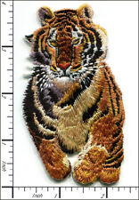 """10 Pcs Embroidered Iron on patches Feral Tiger Animal 2.17""""x3.94 AP053bB"""