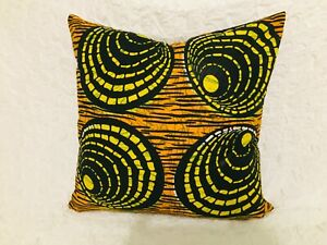 Handmade Cushion Cover | African Print | Ankara | Zip Fastening | NEW