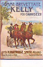 C5551) GOMME BREVETTATE KELLY PER CARROZZE, DITTA H. PARTRIDGE MILANO.