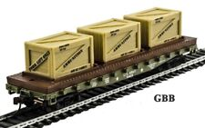 HO Scale 40' U.S. ARMY FLAT CAR with 3 CRATES  MANTUA - Model Power New 727004